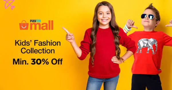 Min 30% off on Kids Full Fashion Collection
