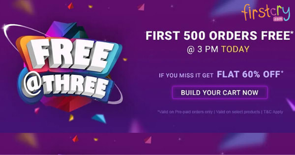 Flat 60% off on Kids Clothing   First 500 Order Free