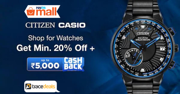 Min 20% Off on Watches Best Of Brands Accessories  Up to 5000 Cashback