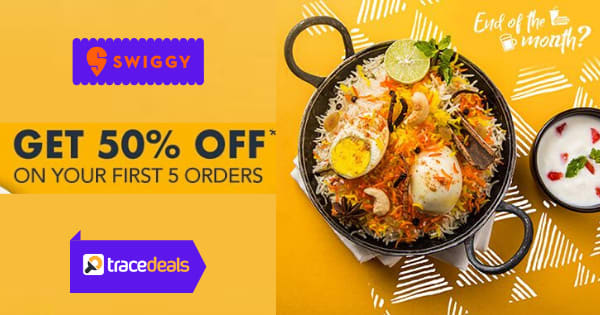Up to 54% off on Swiggy Orders