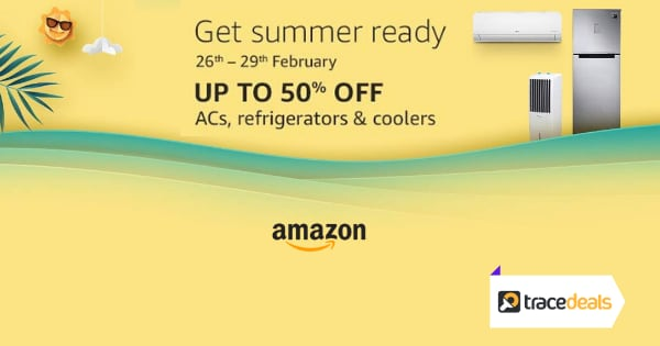 Up to 50% off on ACs, Refrigerators & Coolers   10% Instant Discount Kotak & ICICI Credit Cards