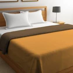 STELLAR HOME Solid Queen Comforter Polyester, Ochre