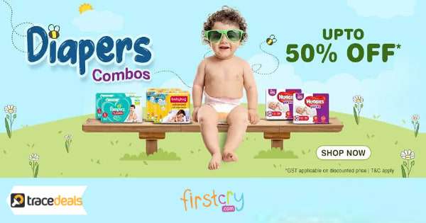 Up to 50% off on Diapers Combos