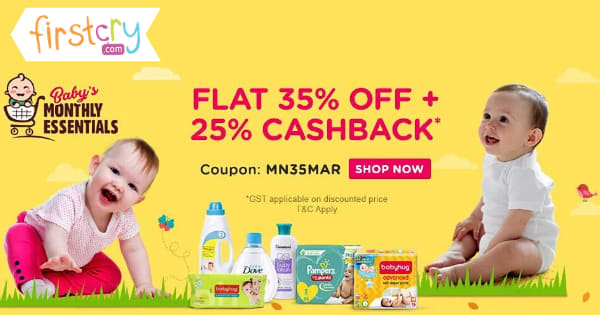 Flat 35% OFF + 25% Cashback* on Monthly Essentials