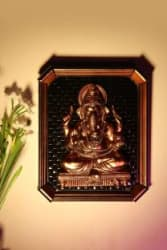 Tied Ribbons Exotic Home Decore_Lord Ganesha Decorative Showpiece - 29 cm Polyresin, Multicolor