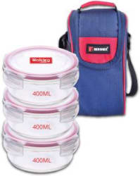 Bergner BGIN-5775 3 Containers Lunch Box 400 ml