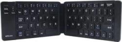 Portronics POR-973 Chicklet Wireless Rechargeable Foldable Keyboard Wireless Multi-device Keyboard Black