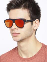 United Colors of Benetton Unisex Mirrored Oval Sunglasses BE5003MI654