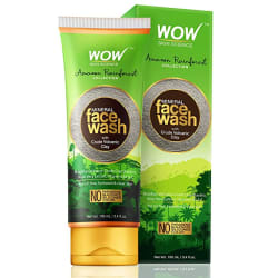 WOW Amazon Rainforest Collection - Mineral Face Wash with Crude Volcanic Clay - No Parabens, Sulphate, Silicones and Color, 100 ml