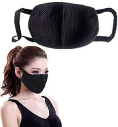kiros Mouth Nose Cover For Tvs Star City Anti-pollution Mask (Black, Pack of 1) Respirator