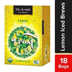 TE-A-ME Ice Brews Cold Brew Ice Tea, Lemon, 18 Pyramid Tea Bags