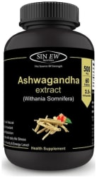 Sinew Nutrition Ashwagandha General Wellness Tablets 500mg (60 No.) | Anxiety Relief Stress Support & Mood Enhancer Natural Supplement Immunity/Immunity Booster