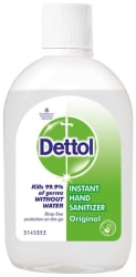 Dettol Instant Hand Sanitizer, 72% Alcohol, 60 ml (Pack of 7)