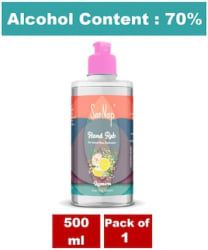 SanNap 70% IPA (Alcohol Based) Instant Hand Sanitizer for Virus And Germ Protection;Lemon;500ml (Pack of 1)