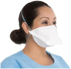 SanNap Flat Fold N95 Anti Pollution Protection face Mask & Respirator - NIOSH Approved (Without Valve) (Pack of 1)