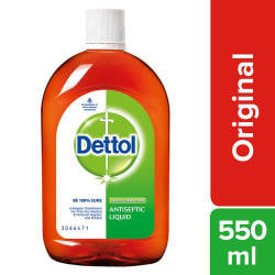 Dettol Antiseptic Disinfectant Liquid - For First Aid, Surface Cleaning, & Personal Hygiene, 550 ml