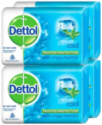 Dettol Cool Soap;125g Each (Pack of 4)