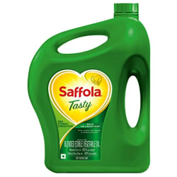 Saffola Tasty, Pro Fitness Conscious - Blended Edible Vegetable Oil, 5L