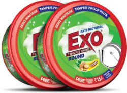 Exo Touch & Shine Round Dishwash Bar 1.4 kg, Pack of 2