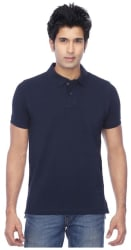 FUNKY GUYS Men s Slim Fit Polo Solid T-Shirt - Blue