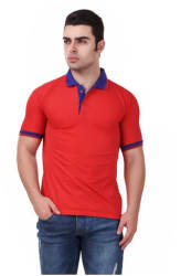 KETEX RED POLYSTER BLEND POLO T-SHIRTS