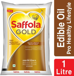 Saffola Gold Pro Healthy Lifestyle Blended Oil Pouch 1 L