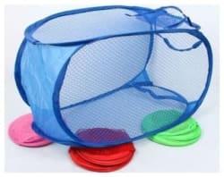 AAA Nylon Assorted Laundry Basket ( Set of 1 )