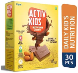 Cipla Activ kids Multivitamin Chocobites For Kid s Nutrition 240 g Immunity/Immunity Booster