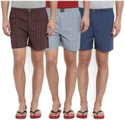 Joven Pack Of 3 Assorted Multi Cotton Boxers