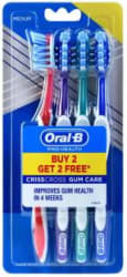 Oral-B Pro Health Gum Care Medium Toothbrush 4 Toothbrushes