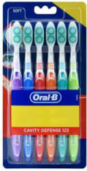Oral-B Cavity Defense 123 Soft Toothbrush 6 Toothbrushes