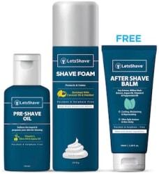 LetsShave Men s Grooming and Shaving Essential Kit (Razor,Razor Cap,Facewash,Shave foam,Aftershave lotion,Face Lotion,Travel Bag)
