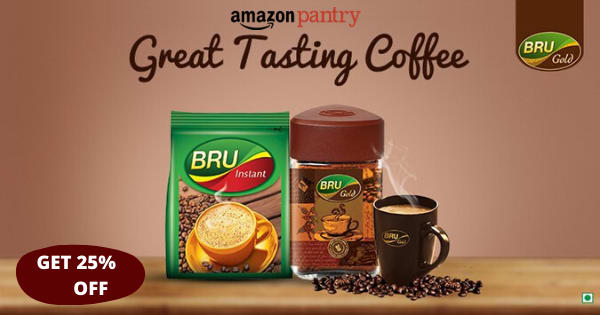 Up to 25% off on Coffee