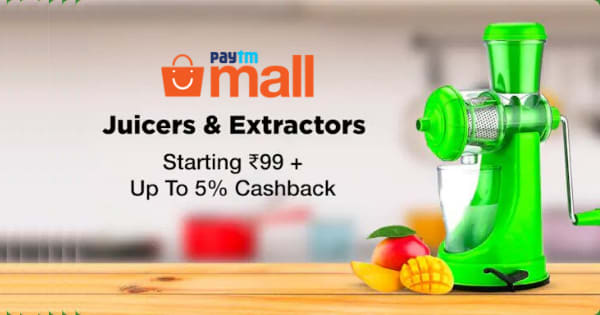 Starting Rs.99 + Up to 5% Cashback on Juicer & Extractors