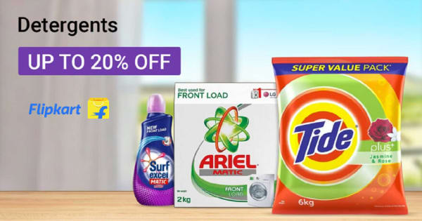 Up to 20% Off on Detergents