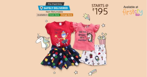 Starting Rs.195 on Kids Summer Essentials