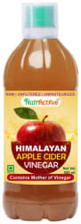 NutrActive Himalayan Apple Cider Vinegar with Mother of Vinegar | Unfiltered 500 ml