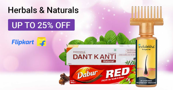 Up to 25% Off on Herbals & Naturals