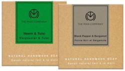 The Man Company Cleansing Soap Black Pepper & Bergamot 125g & Neem & Tulsi 125g (Pack of 2)
