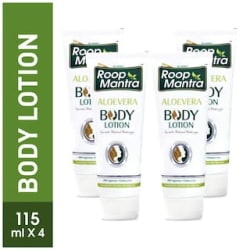 Roop Mantra Body Lotion 115ml, Pack of 4 (Aloevera Body Lotion)