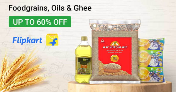 Up to 60% off on Foodgrains, Oils & Ghee