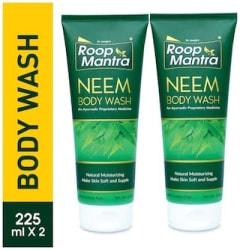Roop Mantra Neem Body Wash 225 ml Pack of 2 Natural Moisturizing Make Skin Soft & Supple Parabens Free