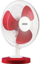 Usha MIST AIR DUOS 400 mm 3 Blade Table Fan RED, Pack of 1