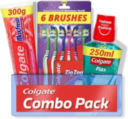 Colgate Maxfresh Combo 6 Brushes, Mouthwash, Toothpaste 3 Items in the set