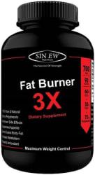 Sinew Nutrition Natural Fat Burner 3X (Green Tea Green Coffee & Garcinia Cambogia Extract) - 700 mg (90 Veg Capsules)