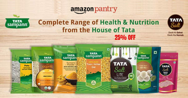 Up to 15% off on TATA Sampann