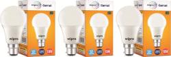 Wipro 10 W Standard B22 LED Bulb(White, Pack of 3)
