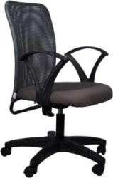 Flipkart Perfect Homes Fabric Office Arm Chair(Grey)