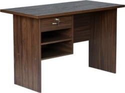 DeckUp Giona Engineered Wood Office Table Free Standing, Finish Color - Walnut