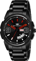 Metronaut MT-GR905-RDB Black Ion Plated Round Shaped Black Dial Black Ion Plated Stainless Steel Bracelet Premium Watch for Men/Boys Analog Watch - For Men